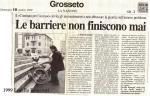 Lorella Ronconi – Roberto Bergamaschi, ottobre 1999 – Il Tirreno – barierearchitettoniche